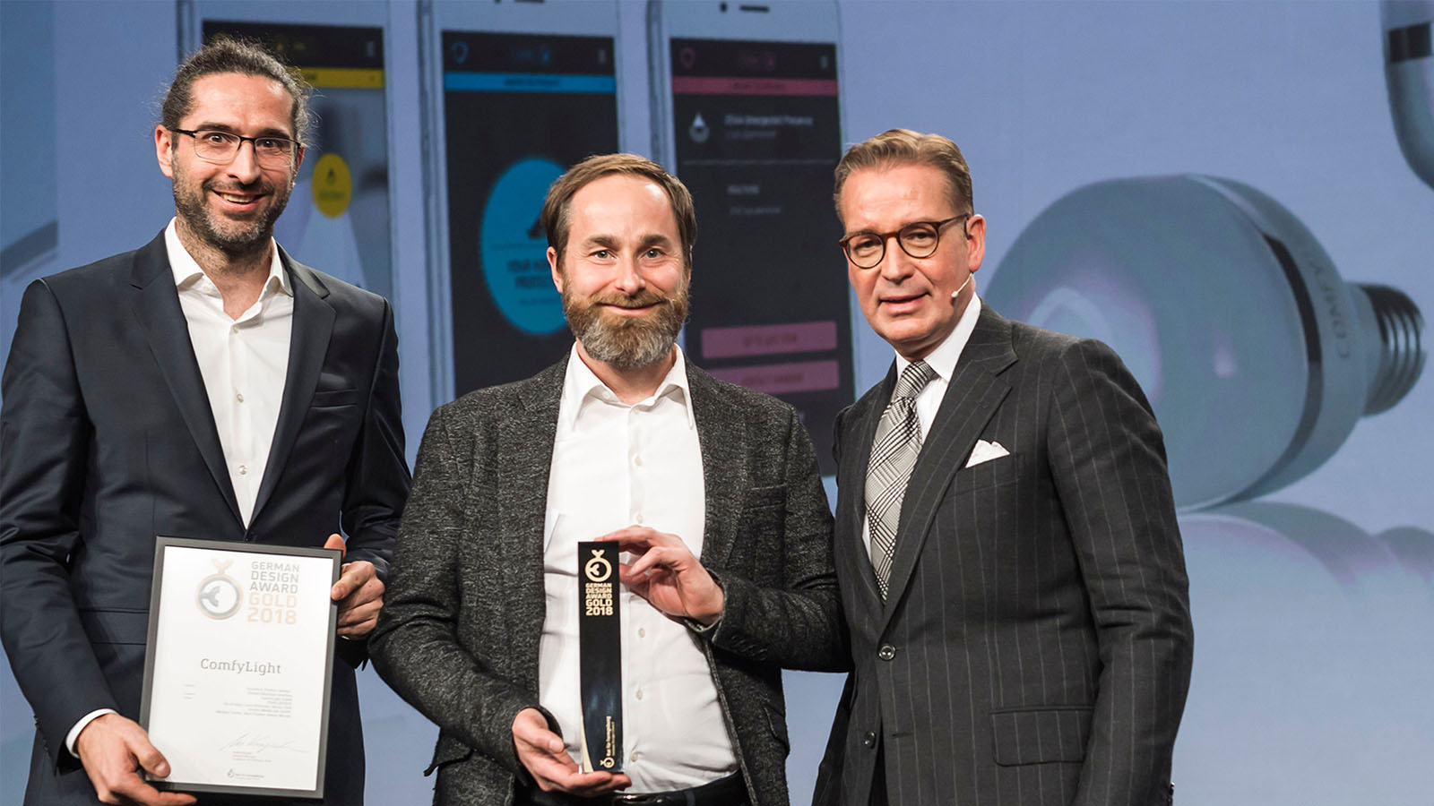 ComfyLight wins Gold at the coveted German Design Award 2018!